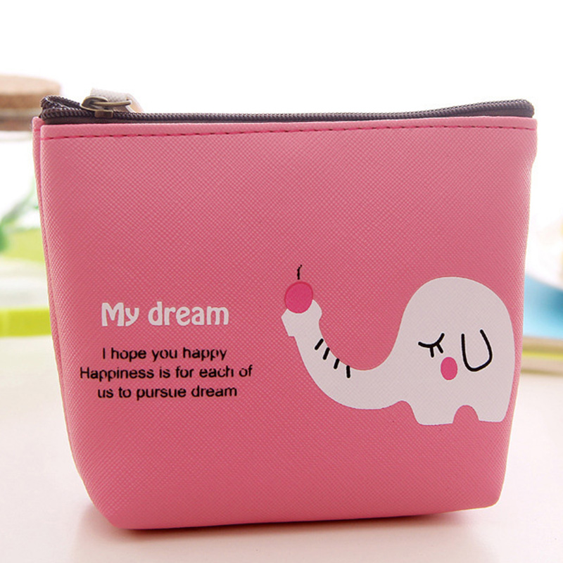 New Korea Cute Cartoon Women Coin Purse Wallets Canvas Large Capacity Money Purses Ladies Small Zip Pouch Creative Card Holder