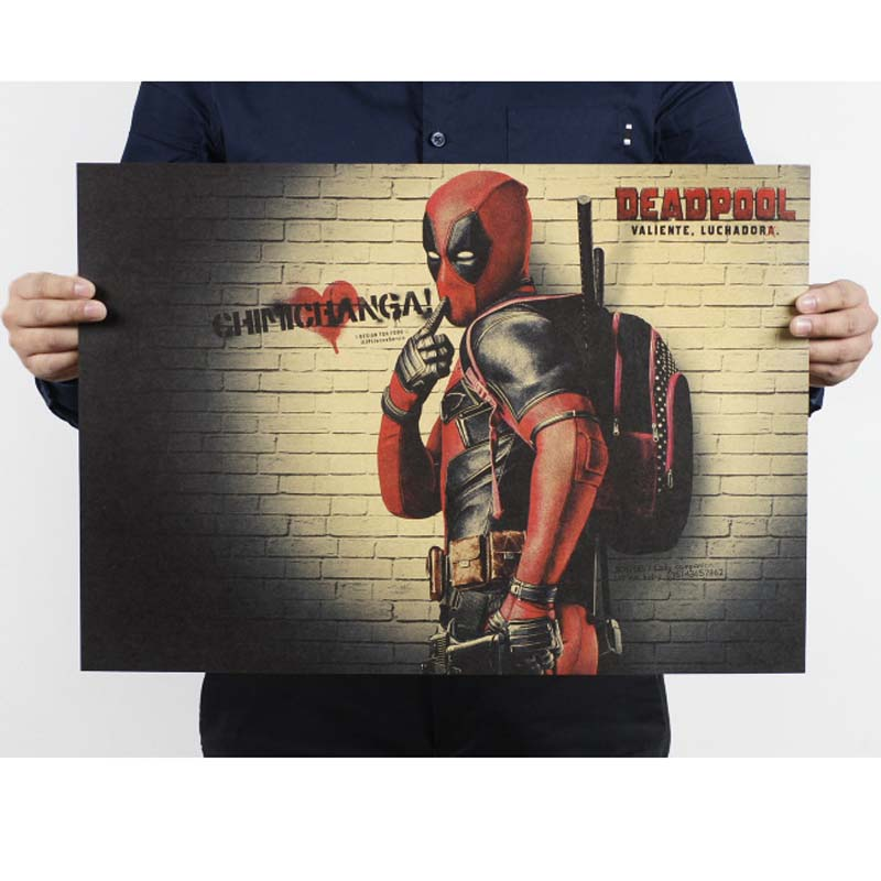 Deadpool Vintage Movie Poster Kraft Paper Posters Drawing Classic Poster Bar Home Decoration