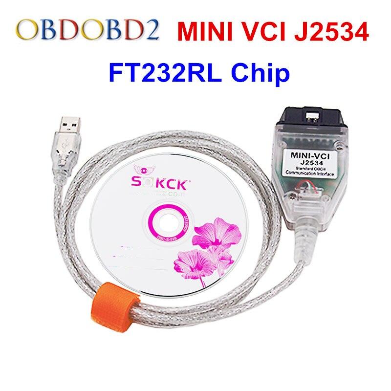 Prix pour Dernières Mini VCI V12.00.127 Pour Toyota TIS Techstream Mini VCI J2534 De Voiture Câbles et Connecteurs De Diagnostic Mini VCI Interface