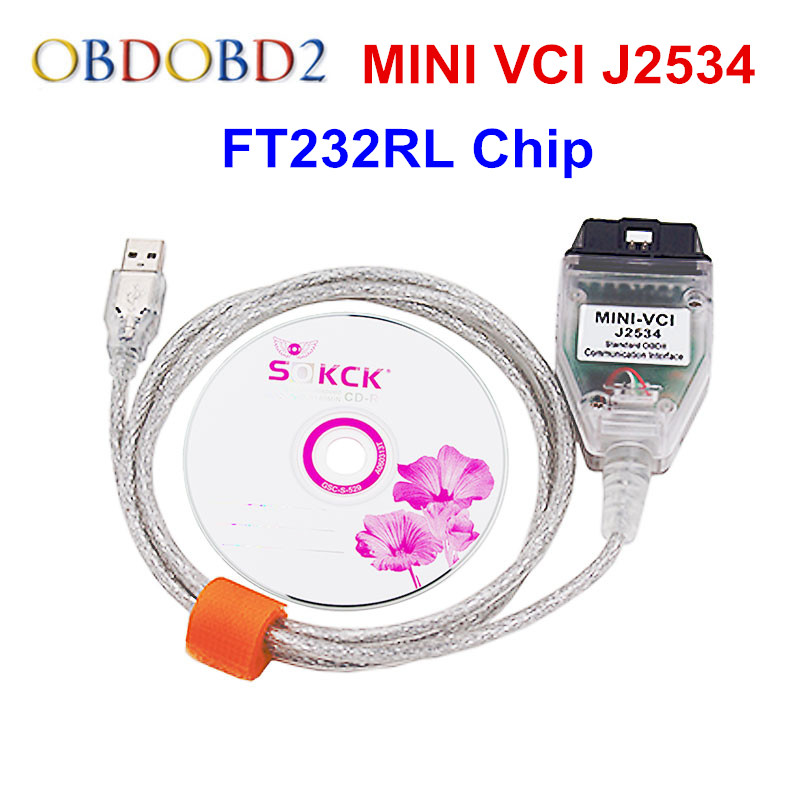 Neueste Mini VCI V13.00.022 Für Toyota TIS Techstream Minivci J2534 Auto Diagnosekabel und Anschlüsse Minivci Schnittstelle