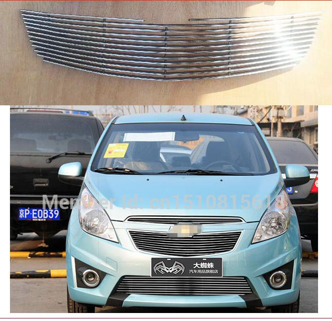 Quality Stainless steel Car front bumper Mesh Grille Around Trim Racing Grills 2011 -2013 for Chevrolet SPARK COBALT