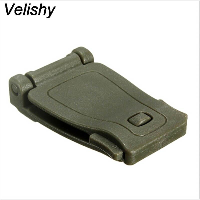 Velishy 1 StÜck Praktische Molle Schnalle Rucksack Tasche Gurtband Anschluss Schnalle Clip Schwarz/khaki Edc Werkzeug Zubehör 26mm