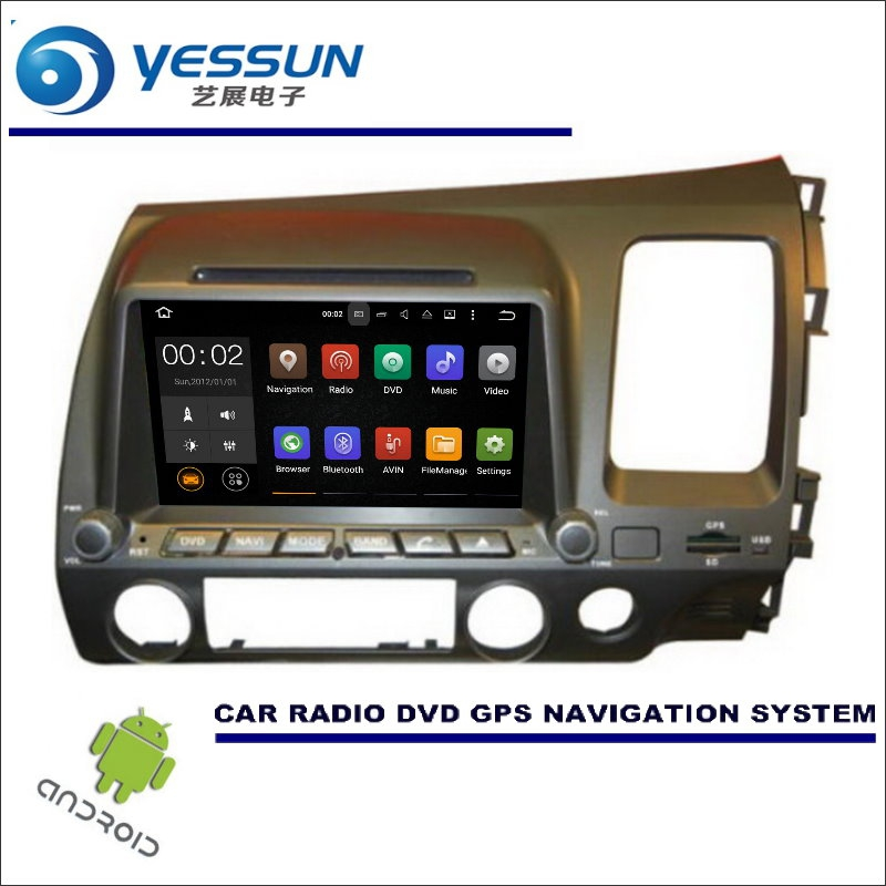 YESSUN Wince / Android Car Multimedia Navigation System For Honda CIVIC 2006~2011 RHD / CD DVD GPS Player Navi Radio Stereo HD цена