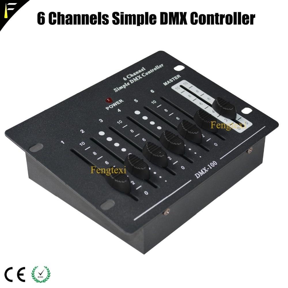 6 Channel Simple DMX Controller Stage Light Equipment DMX Remote Portable Console/Controller DMX512 Stage Light Fixtures Control