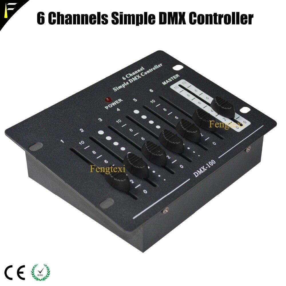 6 canal controlador dmx simples equipamentos luz do estagio dmx remoto console portatil controlador dmx512 fase