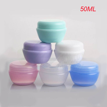 100pcs 50g plastic cream bottle, Plastic 50g cosmetic container,wholesale 50g cream Cosmetic Jar Cosmetic Packaging 6 colors