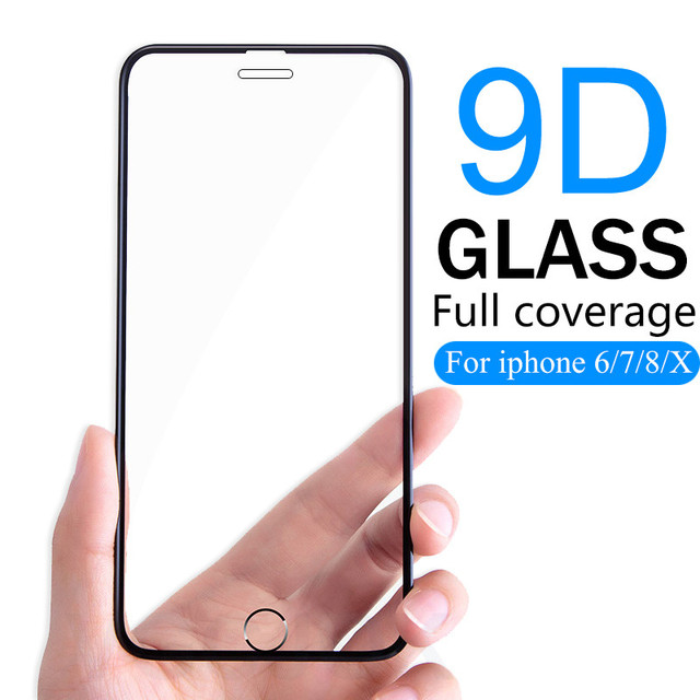 9D Full Cover Protective Glass on the For iPhone 6 7 8 6S Plus Glass Flim For iPhone 5 5S SE Screen Protector Tempered Glass