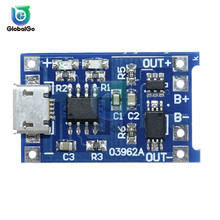 10pcs/Lot 5V 1A Micro USB 18650 Lithium Battery Charging Board Charger Module+Protection Dual Functions TC4056A