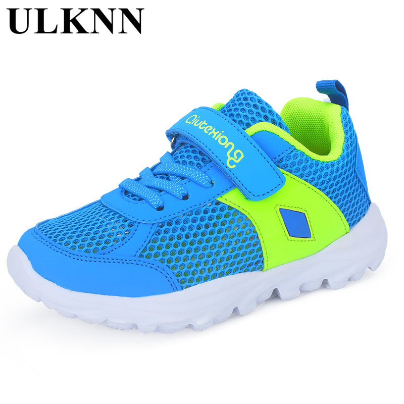 ULKNN Quick-Dry Rubber Patchwork Hook&Loop School Outdoor Trainer Summer Children Shoes Water Boys Sneakers Mesh Breathable