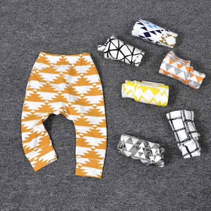 Boys Pants Children Sport Trousers Animal Character Geometry Print Baby Harem Pants Girls Loose Leggings Enfant