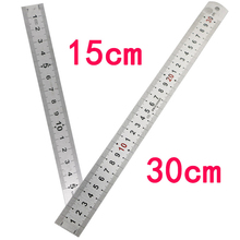 Cheapest prices 12 inch /6 inch Metric imperial stainless steel steel ruler scale footwork measuring tool for students engineers and craftsmen