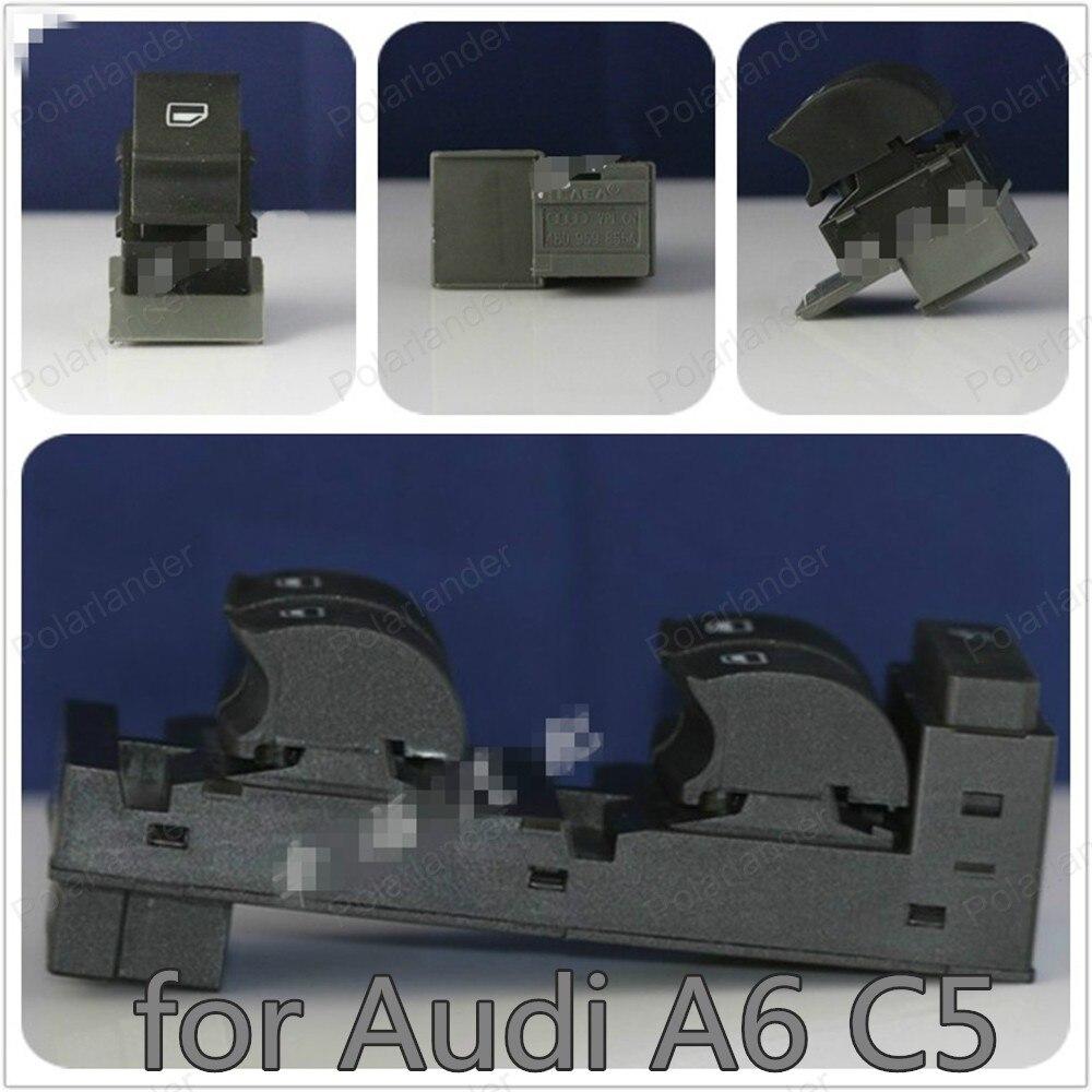 Pour A/udi A6 C5 maître de porte avant gauche 4B0959851 4B0959855 interrupteur de levage de fenêtre électronique
