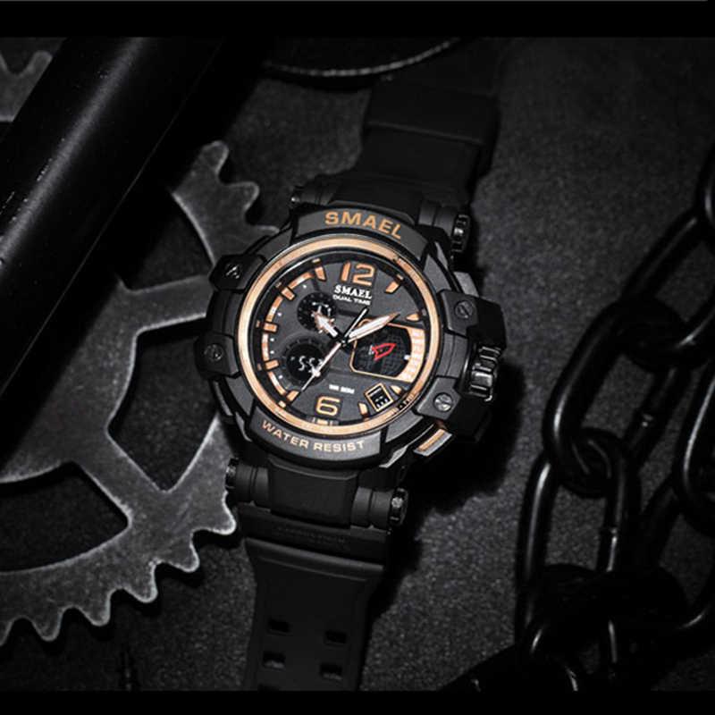SMAEL Marca Degli Uomini di Sport Orologi uomini della vigilanza LED Digitale 50 M Impermeabile Casual Orologio al quarzo Uomo Orologio Da Uomo relógios masculino regalo