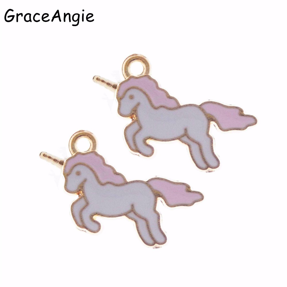 10pcs Lovely unicorn Alloy pendant earring Bracelet Jewelry Accessorie DIY