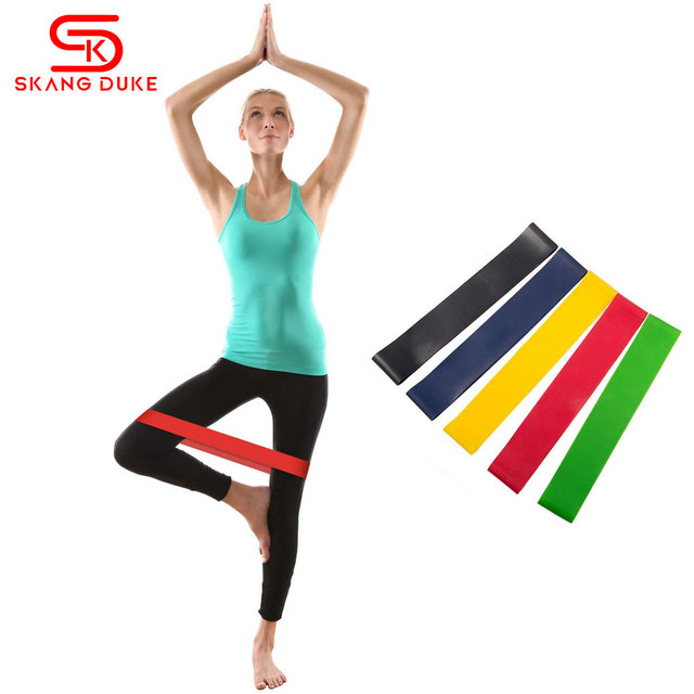 54a22a15a19c Two Type Resistance Loop Bands Exercise for Home Fitness Gym Strength  Training Physical Therapy Natural Latex Yoga Workout Bands