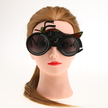 Men Women Novelty Black Motorbike Party Glasses Fancy Costume Festival Holiday Sunglasses Gift Photo Booth Prop