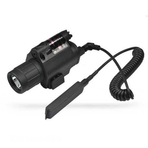 Tactical Pistol Red Laser & Flashlight Sight Scope Combo Weaver Picatinny Rail Rifle 200 Lumen HT8-0001R