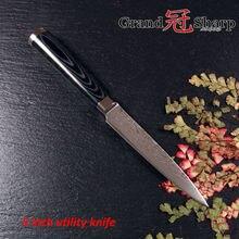 Grandsharp 5 zoll professionelle sharp universalmesser 67 schichten japanischen damaskus edelstahl vg-10 core kitchen tools new