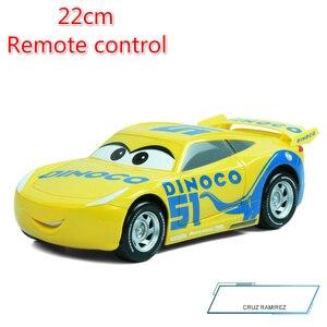 Image 4 - Big Size 22cm Disney Pixar Cars 3 Remote Control Storm Jackson Lighting McQueen Cruz Ramirez Metal Car Toys Boys Birthdays Gift