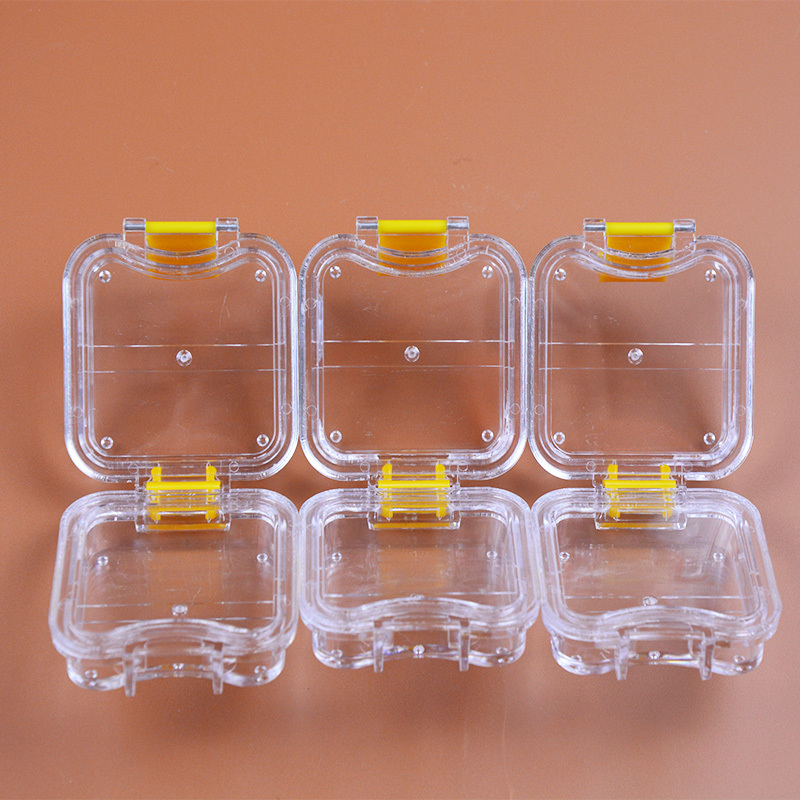 200 Pieces Packed Membrane Tooth Box Dental Storage Box Dental Teeth Box with Translucent Film 1