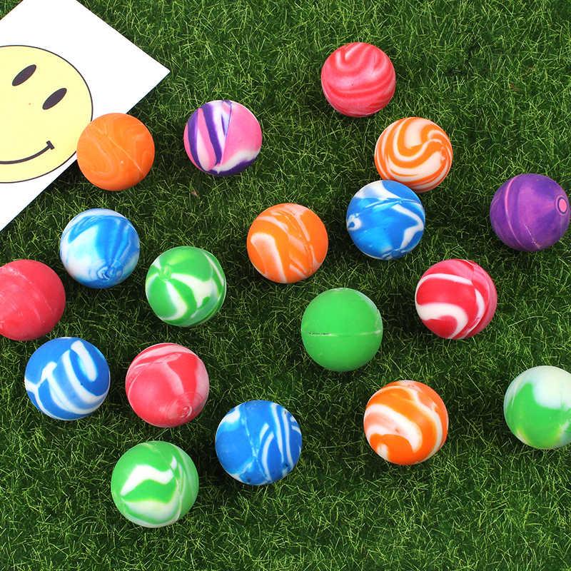 Bola De Borracha De borracha das crianças Elástico Saltando Brinquedos Engraçado Brinquedo Pinball Sólidos Flutuantes Misturados com Cores Aleatórias