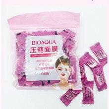Компрессионная маска для лица, 50 нетканых тканевых масок, бумажная маска для ухода за кожей, сухая одноразовая компрессионная маска для лица, DIY маска, инструмент для макияжа