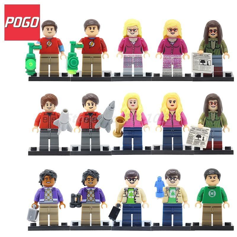 POGO TBBT Figures The Big Bang Theory Building Blocks Model Bernadette Rajesh Howard Amy Penny Kids Bricks Toys Set Lepin amy joyner the ebay millionaire titanium powerseller secrets for building a big online business