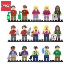 POGO TBBT Figures The Big Bang Theory Building Blocks Model Bernadette Rajesh Howard Amy Penny Kids