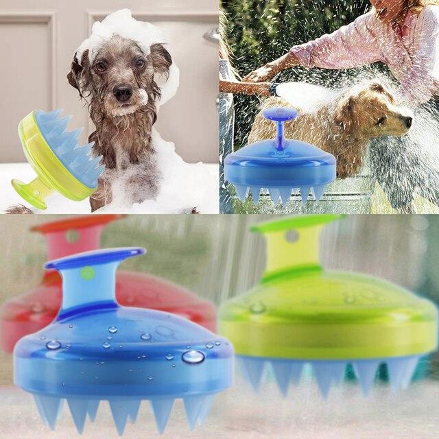 Drop Ship 1Pcs Salon Hair Brush Silicone Spa Shampoo Brush Shower Bath Comb Hairbrush Props Soft Styling Tool cepillo pelo 1