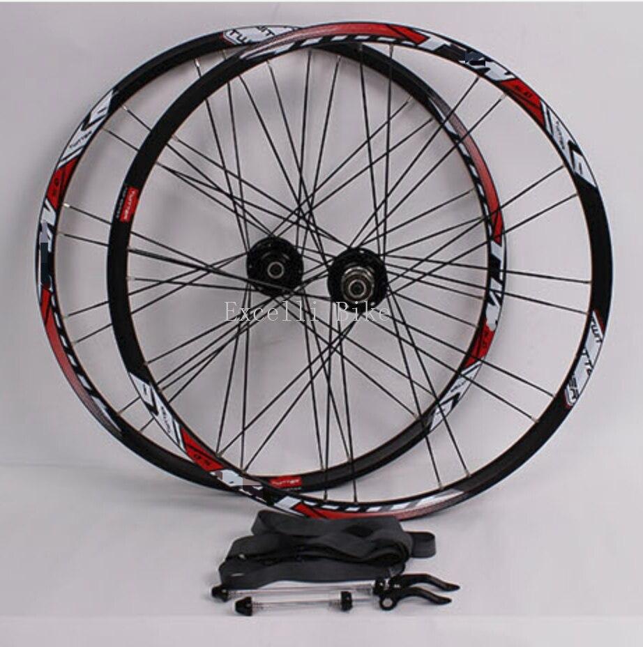 1Pairs 27 5 Mountain Bicicleta Aluminium Alloy Wheelset 27 5er Disc Brake Wheels Chrader Valve For