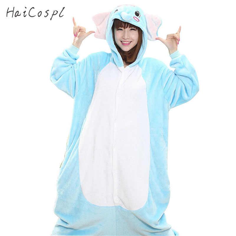 Слон пижамы для женщин животного onesвечерние IE партии косплэй костюмная  Пижама комплект взрослых фланелевые теплые Ночная 096cb3d66df3d