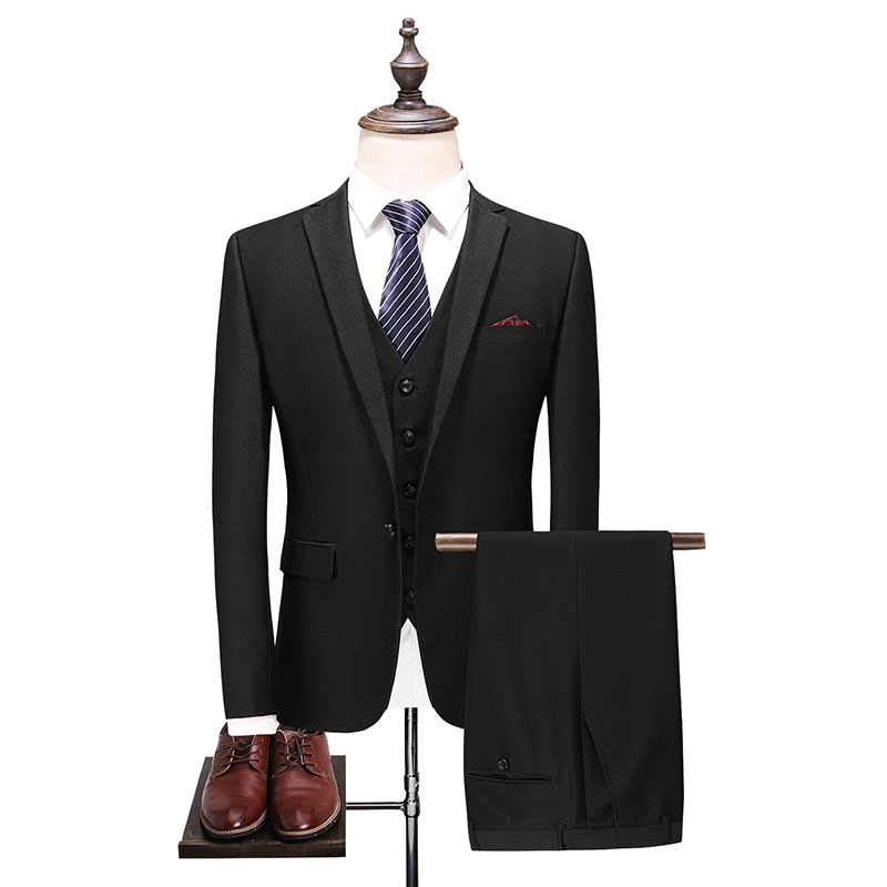 men suit Top Quality long sleeve dress Fashion Wedding Suit Three piece Male Formal Business Casual offices Suits in Suits from Men 39 s Clothing