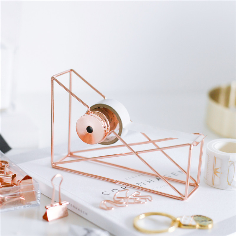 Newest rose gold Masking Tape Cutter Washi Tape Storage Organizer Cutter Stationery Office Tape Dispenser Office Supplies high capacity japanese masking tape storage cutter multi rolls round washi tape storage organizer cutter office supplies