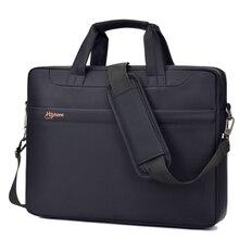 Bolsa de ordenador portátil 15 15.6 14 13.3 13 pulgadas bolsos de la computadora A Prueba de agua para la Mujer y el Hombre bolsa de Hombro Negro tablet Notebook Portátil 2017