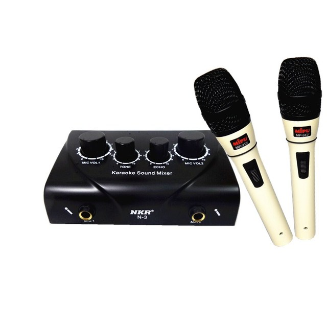 Home audio and video equipment karaoke microphone player mp-313 Professional Home TV PC Mobile phon Karaoke Mike preamplifier