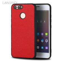 LANGSIDI brand phone case small litchi grain all-inclusive phone case for Huawei Nova 2 phone case handmade custom processing