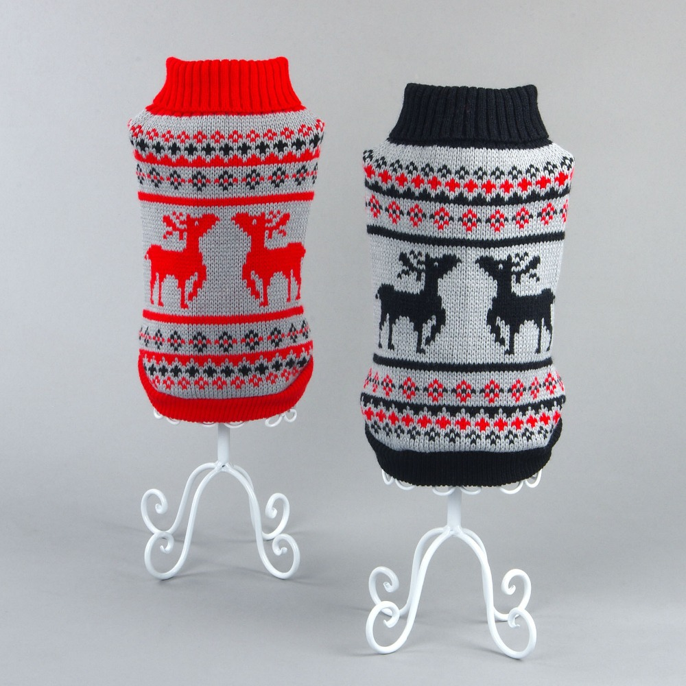 Pet dog cat crochet knit Sweater sweatershirt Pullover small dog dachshunds Coat jacket Cothes dog christmas costume clothes