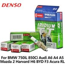 BMW Için 4 adet/grup DENSO Araba Buji 750iL 850Ci Audi A6 A4 A5 Mazda 2 Harvard H6 BYD F3 Acura RL Vios çift iridyum IK16TT