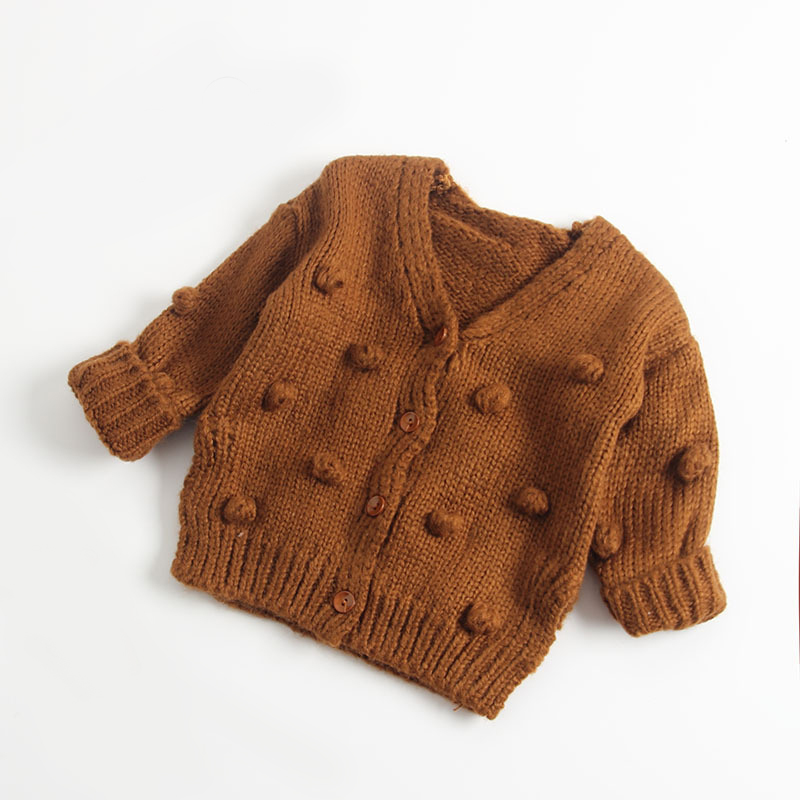 Newborn Baby Girl Boy Cute Button Cardigan Soft Knitted Sweater Tops Colorful Outerwear Unisex Fall Winter Outfits