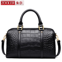 ZOOLER Latest Fashion Women Bags Genuine Leather Handbags Alligator Design High Quality Brand Design Luxury Ladies