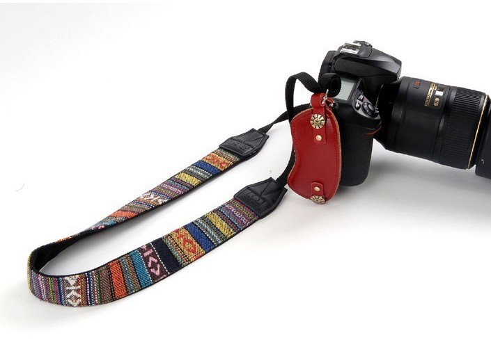 Colorful Retro Vintage Style Double Cotton Yard Pattern Camera Shoulder Neck Sling Hand Strap Belt for canon&nikon&sony
