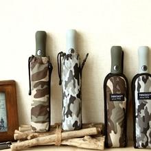 Parachute parapluie automatique pour homme et femme, Style Camouflage, pliable, coupe vent, 8 nervures, grand Golf, de la pluie