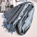 Herringbone Women Scarf Ancient Tassels Long Shawls Journey Sunscreen Headscarf Brand New