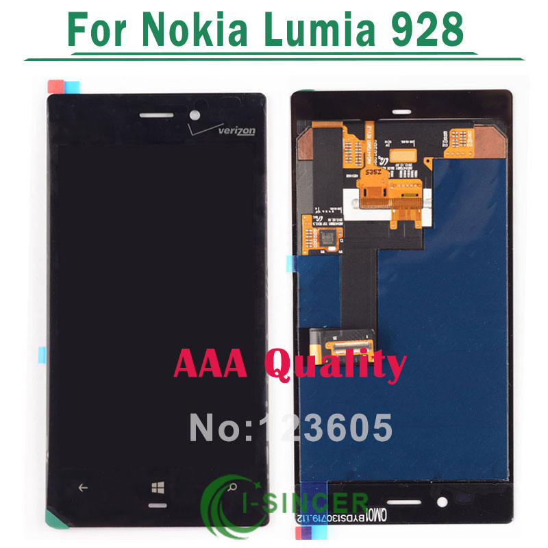 5/PCS LCD Display+Touch Screen Digitizer Glass Assembly For Nokia Lumia 928 Black Free DHL