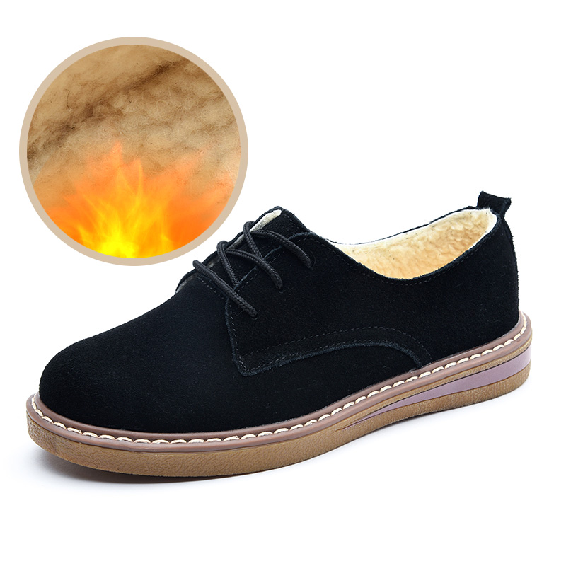 Women shoes winter   Leather   Oxford Flats Luxury Design   suede   Moccasins Female Lace Up Footwear Round Toe sneakers Career shoes