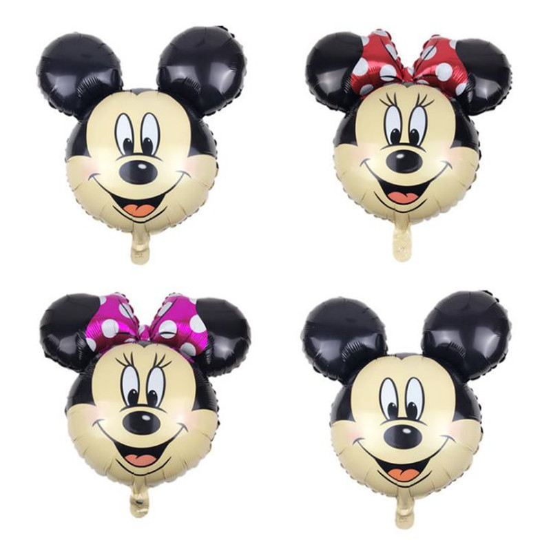 Taoqueen  Cartoon Hat Mickey Head Aluminum Foil Balloons Minnie Mickey Toys Cartoon Balloon  Cartoon Hat