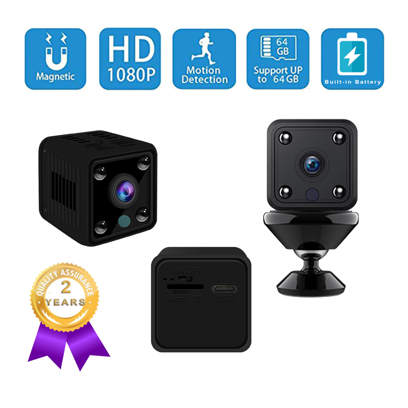 1080P Mini WIFI IP Camera H.264 CMOS <font><b>2.8</b></font> <font><b>mm</b></font> <font><b>lens</b></font> Supports Battery 64G SD Card Motion Detection Mini DV Voice Recorder Camcorder image