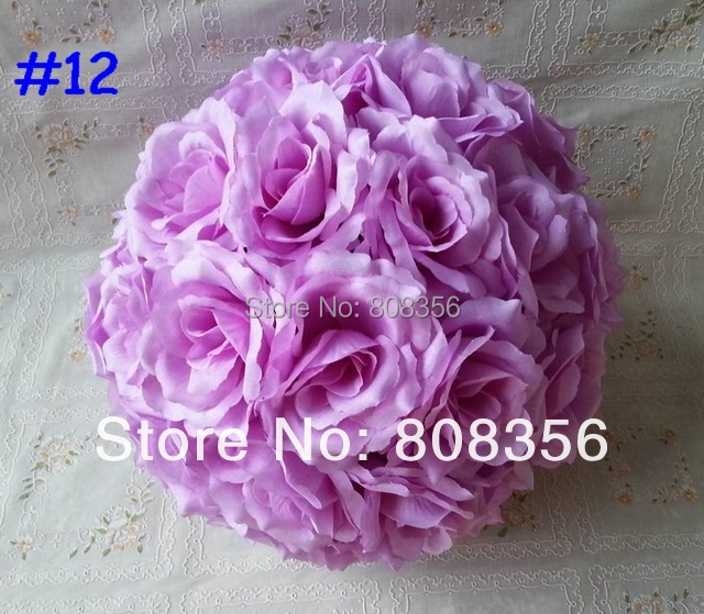 Kissing Ball Rose Ball Flower 10pcs 28cm / 11