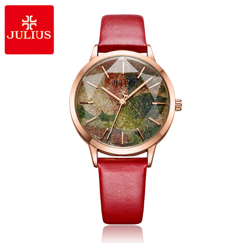Julius Multicolor Starry Sky Big Dial Waterproof Quartz Watches Woman Casual Leather Student Wristwatches Montre Femme Gifts Islamabad
