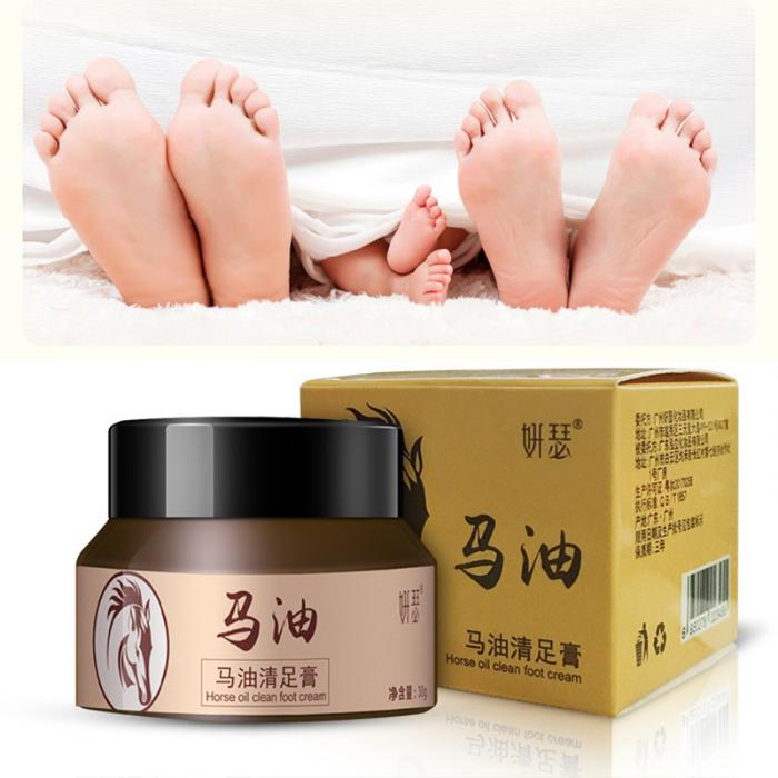 18 Horse Oil Feet Cream for Athlete Feet Itch Blisters Anti-chapping Peeling Antibacterial Ointment 7